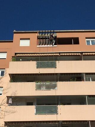 Coffrage d'un linteau en façade à Aix-en-Provence